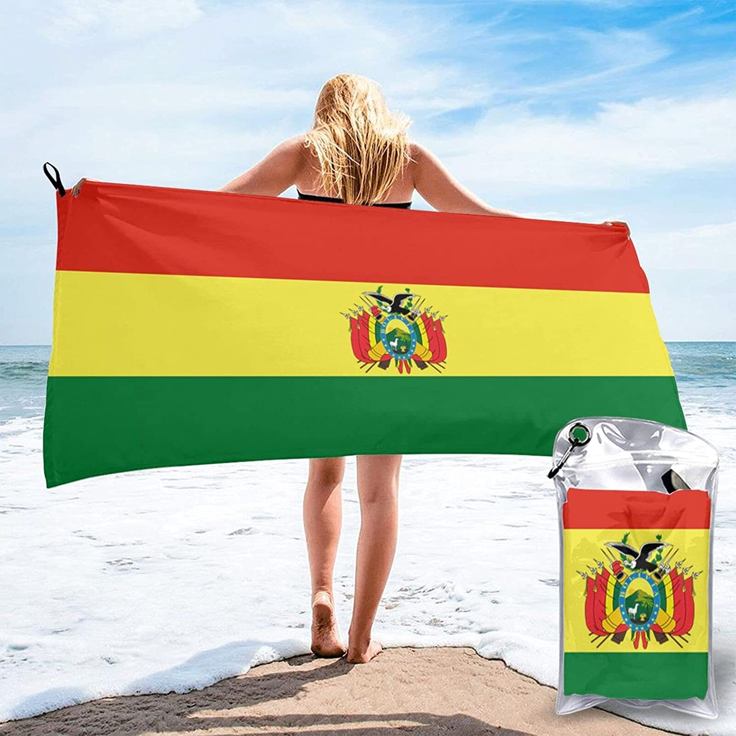 Flag of The Bolivia Quick Fast Pool Dry Dealing full price reduction Super Absorb Beach Regular store Towel