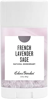 Edens Garden French Lavender Sage Natural Deodorant, Aluminum & Baking Soda Free (For Normal & Sensitive Skin), Made With Essential Oils, Vegan, For Men & Women, 2.25 oz