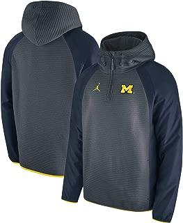 Michigan Wolverines 1/4 Zip Hybrid Hooded Jacket (Small)