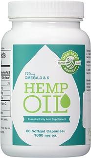 Manitoba Harvest Hemp Oil Essential Fatty Acid Supplement 1000 mg. - 60 Capsules, 2 pack