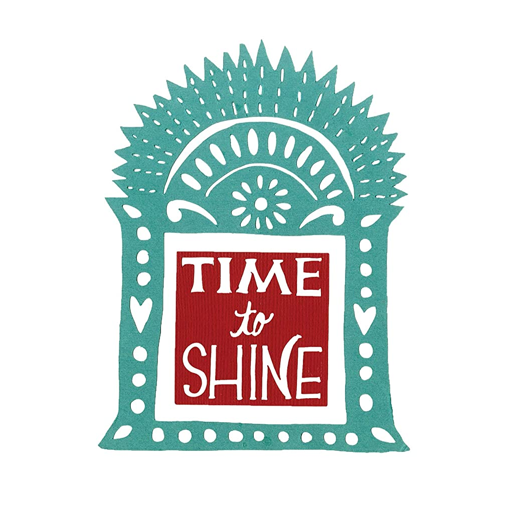 Sizzix 663145 Thinlits Dies Time to Shine Shrine by Crafty Chica, 2-Pack, Multicolor
