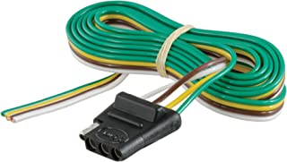 CURT 58040 Vehicle-Side 4-Way Trailer Wiring Harness with 60-Inch Wires, 4-Pin Trailer Wiring