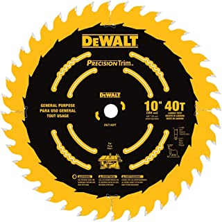 Milwaukee 48 40 4160 Endurance 10 Inch 24 Tooth Atb General Purpose Saw Blade With 5 8 Inch Arbor Table Saw Blades Amazon Com