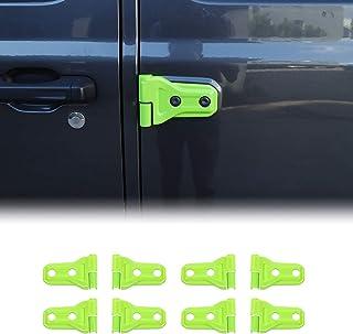 JeCar Door Hinge Cover ABS Hinge Decor Exterior Accessories for 2018-2020 Jeep Wrangler JL 4 Door&2 Door- 8PCs (Green)