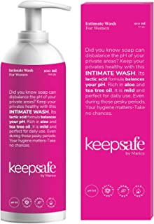 KeepSafe Intimate Wash for Women, Rich in Aloe & Tea Tree Oil, Healthy Intimate Hygiene, Anti-bacterial, Anti-fungal, No S...