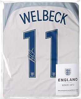 Icons.com Danny Welbeck Official England Back Signed 2016-17 Home Shirt: Number 11