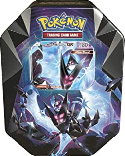Pokemon TCG: 2018 Spring Dawn Wings NECROZMA Purple TIN- Dawn Wings - 4 Booster Packs with 1 GX Card of Dawn Wings Necrozma-GX