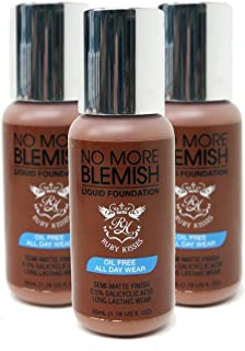Ruby Kisses NO MORE BLEMISH Liquid Foundation Oil Free 1.18oz - BLF12 CARAMEL