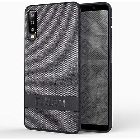 Galaxy A7 ケース カバー 【 デザイン コットン モデル 】 [ケース素材:PC/TPU/コットン/レザー] シンプル 指紋防止 薄型 軽量 耐衝撃 ハイブリッドケース カラー:ブラック