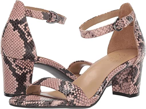 Dusty Rose Snake Print Leather
