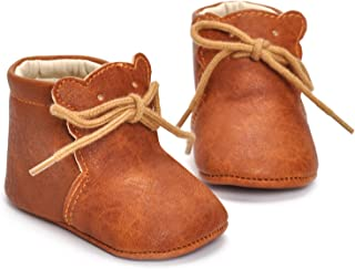 Fboards Trading Newborn Unisex Baby Girls Boys Bear Ankle Boots Leather Sneaker Soft Sole Anit-Slip Shoes Prewalker Winter Warming Shoes