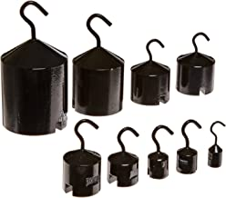 Ajax Scientific 9 Piece Economy Hook Weight Set with Plastic Block