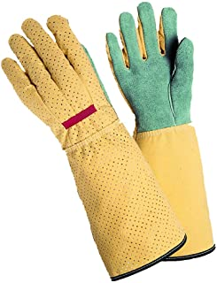 Magid G191T Simply Pastel Men`s Rose Glove, Leather Palm, Long Cuff