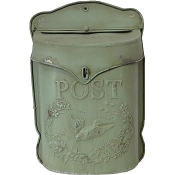 Shabby Chic posta in metallo stile vintage post box con finitura anticata allchic