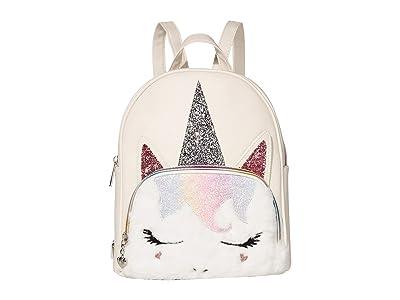 OMG! Accessories Sugar Glitter Unicorn Mini Backpack (White) Backpack Bags