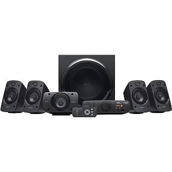 Logitech Z906 5.1 Sistema di Altoparlanti Audio Dolby Surround, Certificato THX, Dolby e DTS, Potenza 1000 Watt, Multidispositivo, Con Telecomando, Presa EU/IT, PC/PS4/Xbox/TV/Smartphone/Tablet