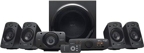 Logitech Z906 Système de Haut-Parleurs avec Son Surround 5.1, Certifié THX, Dolby & DTS, 1000 Watts en Puissance, Mul...
