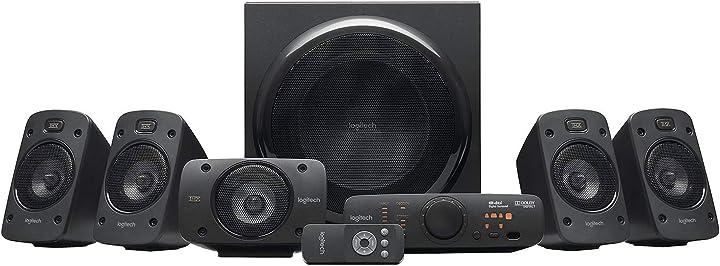 Sistema di altoparlanti audio dolby surround,certificato thx,dolby e dts, potenza 1000 watt logitech z906 5.1 980-000468