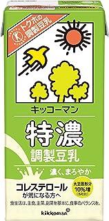 キッコーマン 特濃調製豆乳 1000ml×6本【特定保健用食品】