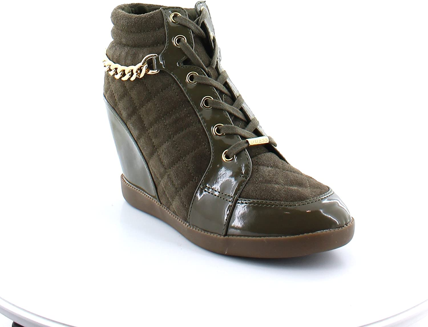 GUESS New Hevin Wedge Boots Women's Size 8 Green