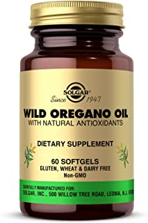 Solgar Wild Oregano Oil, 60 Softgels - High Quality Oregano Oil Concentrate - Immune Support - Includes Natural Antioxidan...
