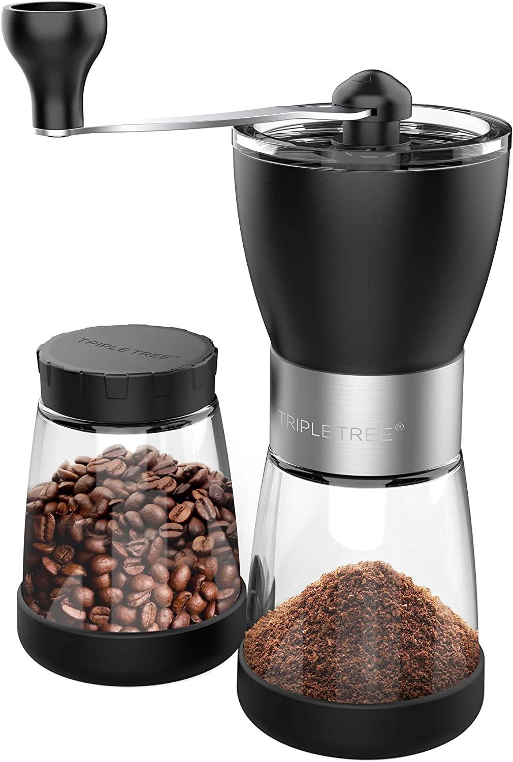 Manual Coffee Mill Grinder Limited Special Price with Ceramic Burrs Portland Mall Clear Two J Glass