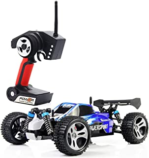 SIMREX A320 RC CAR High Speed 32MPH+ 4x4 Fast Race Cars 1:18 RC Scale RTR Racing 4WD Electric Power Buggy W/2.4G Radio Remote Control Off Road Truck Powersport Roadster Blue
