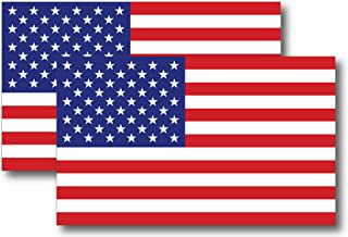 American Flag Magnet Decal 5 inch x 3 Inch 2 Pack - Heavy Duty for Car Truck SUV