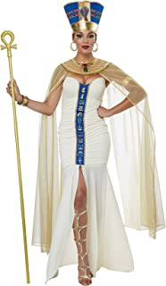 Women's Queen of Egypt Adult Woman Costume, Cream/Blue