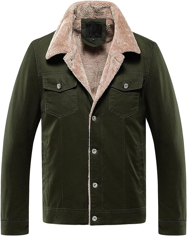 FORUU Motorcycle Jackets For Men Fall Winter Casual Slim Fit Warm Coat with Pocket Fashion Track Jacket Stylish Overcoat