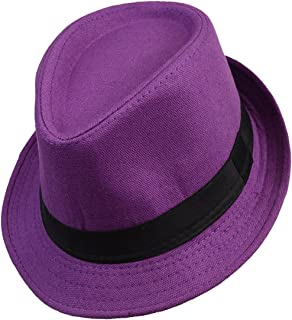 Solid Color Summer Men s Fedora Hat f09e862a1797