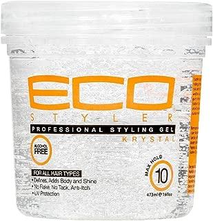 ECOCO EcoStyler Professional Styling Gel Krystal, 32 oz (Pack of 4)