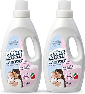 Maxkleen 1L Twin Pack Baby Soft AntiBacterial and Gentle Liquid Detergent – Gentle on Baby's Sensitive Skin