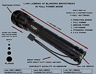 Voidhawk T-REX-4C CREE XM-L2 U2 1,000 Lumen 4 C-Cell Powered LED Flashlight