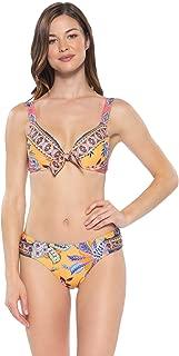 Becca by Rebecca Virtue Women's Tapestry Bloom Convertible Strap Bikini Top