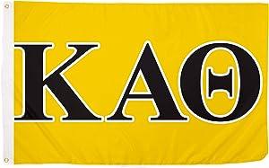 Desert Cactus Kappa Alpha Theta Letter Sorority Flag Greek Banner Large 3 feet x 5 feet Sign Decor