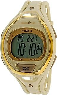 Timex Men's Tw5M06100 Cream Rubber Quartz Sport Watch, Digital Display