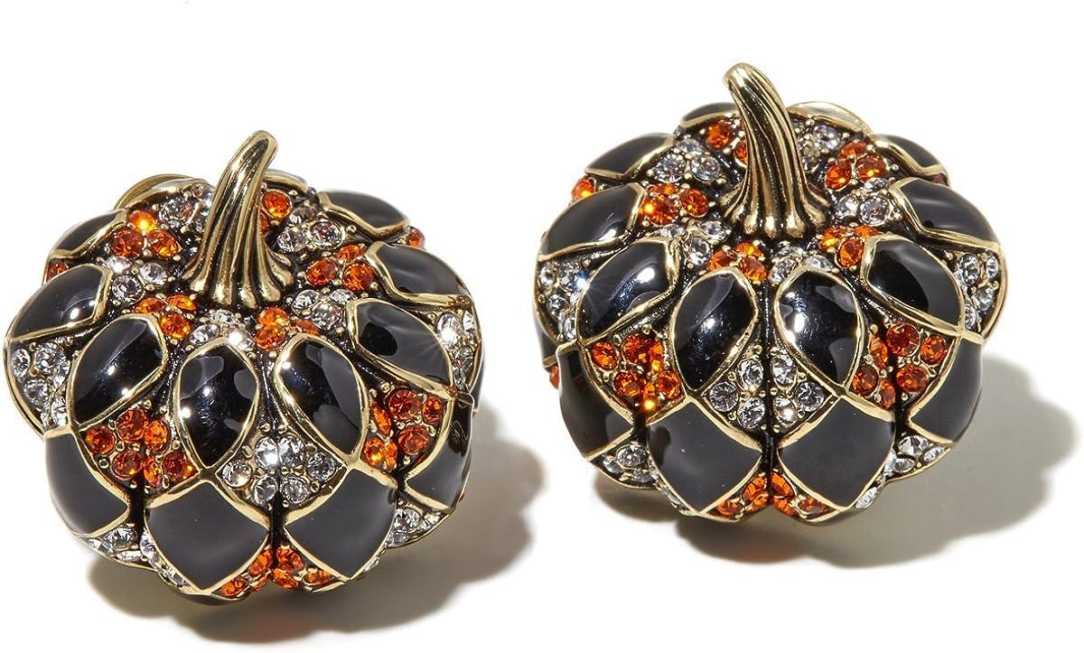 Heidi Time sale Daus Harlequin Pumpkin Swarovski Great Earrings price Exquisite