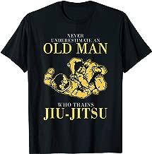 Mens Never underestimate An Old man who trains Jiu-Jitsu T-Shirt