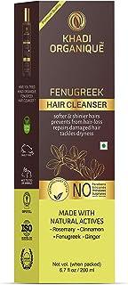 Khadi Organique, Fenugreek Hair Cleanser ml, 200 millilitre ( 100% natural ingfredient shampoo)