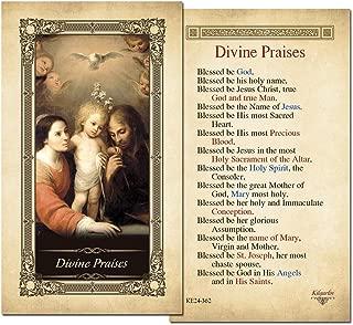 Divine Praises Laminated Prayer Card - Pack of 10