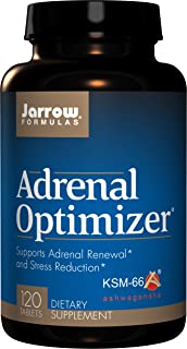 Jarrow Formulas Adrenal Optimizer, Adrenal Optimizer® FunctionSupports Adrenal Renewal* & Stress Reduction*, 120 Tablets