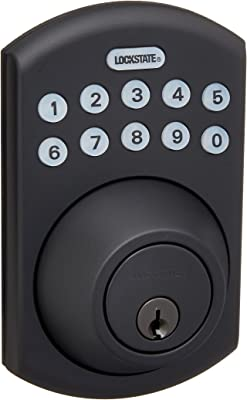 LockState RemoteLock 5i WiFi Electronic Deadbolt Door Lock - Rubbed Bronze - Boulder (LS-DB5i-RB-B)