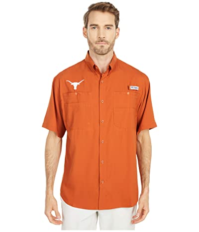 Columbia College Texas Longhorns Tamiamitm Short Sleeve Shirt (Cedar) Men