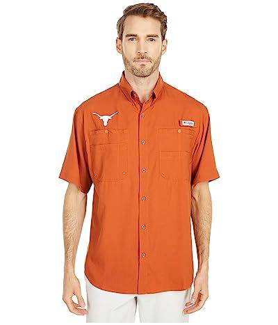 Columbia College Texas Longhorns Tamiami Short Sleeve Shirt (Cedar) Men