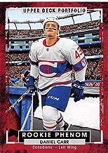 2015-16 Upper Deck Portfolio #246 Daniel Carr RC Rookie Montreal Canadiens