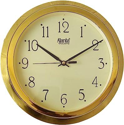 Ajanta Plastic Analog Wall Clock (247 cm x 247 cm x 32 cm, Ivory)