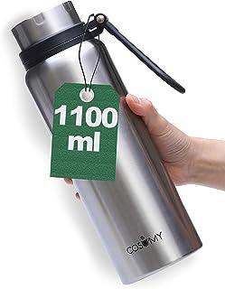 Cosumy termos ze stali nierdzewnej – 1000 ml – szczelny – butelka izolacyjna z podwójnymi ściankami – nadaje się do stosow...