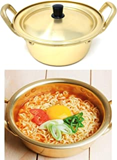 Ramen pot, rapid noodle cooker, 3 minute boiler for soup pasta egg, fast cooling for serving