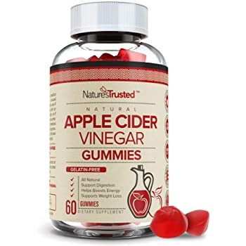 Premium Apple Cider Vinegar Gummies - Organic Unfiltered ACV with The Mother, Gummy Alternative to Apple Cider Vinegar Capsules, Pills, Tablets - Detox, Cleanse Support, Boost Immunity - 60 Capsules